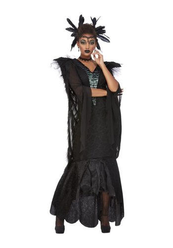 Deluxe Raven Queen Kostuum
