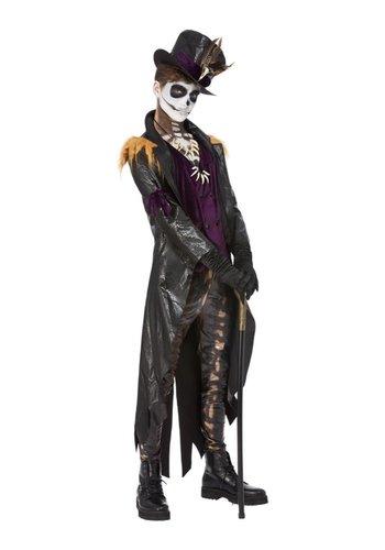 Deluxe Voodoo Witch Doctor Kostuum - zwart en paars