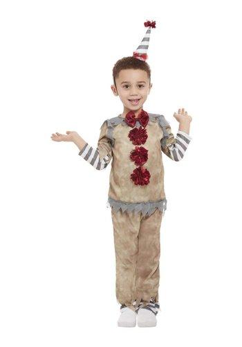 Vintage clown kostuum voor peuters