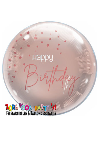 Folieballon Elegant Blush Happy Birthday - 45cm