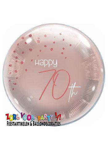 Folieballon Elegant Blush 70 Jaar - 45cm