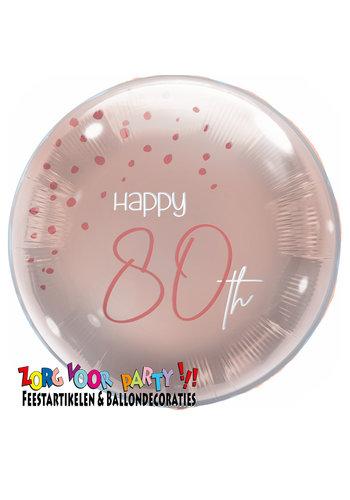 Folieballon Elegant Blush 80 Jaar - 45cm
