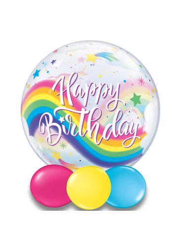 Bubble Happy Birthday Rainbow Unicorns