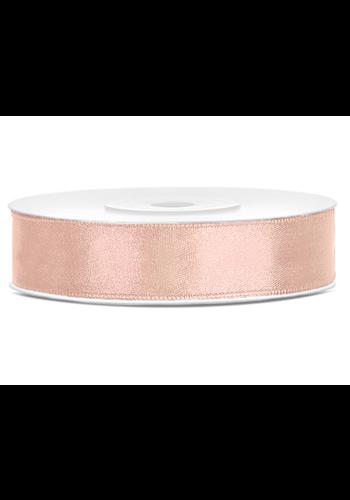 Satijn Lint Rosé Gold - 12 mm x 25 mtr
