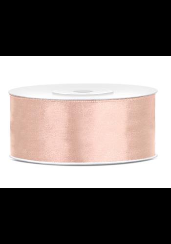 Satijn Lint Rosé Gold - 25 mm x 25 mtr