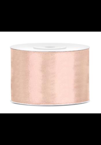 Satijn Lint Rosé Gold - 50 mm x 25 mtr