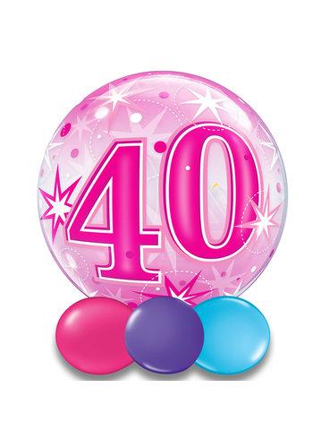 Bubble Sparkle 40 Pink - 55cm