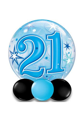 Bubble Sparkle 21 Blauw - 55cm