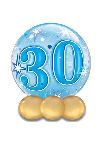 Bubble Sparkle 30 Blauw - 55cm