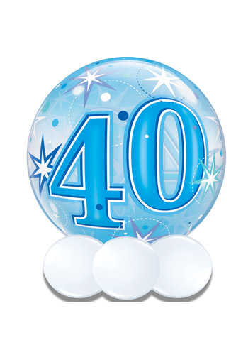 Bubble Sparkle 40 Blauw - 55cm