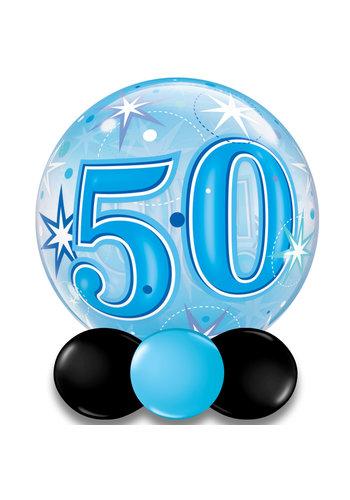 Bubble Sparkle 50 Blauw - 55cm