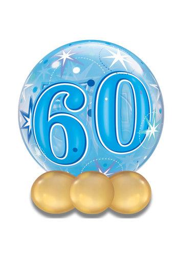Bubble Sparkle 60 Blauw - 55cm