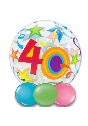 Bubble Ballon Gekleurd 40 - 55cm