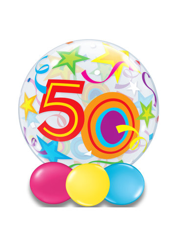 Bubble Ballon Gekleurd 50 - 55cm