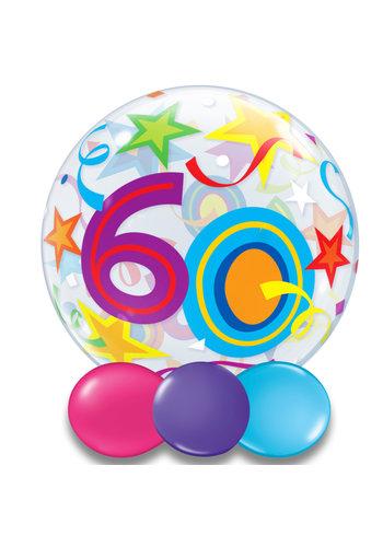 Bubble Ballon Gekleurd 60 - 55cm