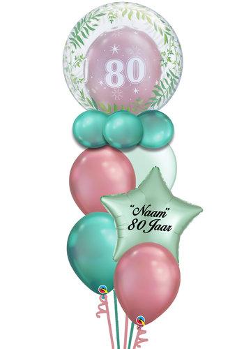 Dubble Bubble Leeftijd Balloon Set Met Naam