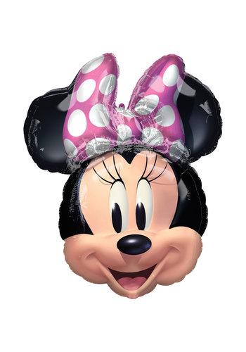 Folieballon Shape Minnie Hoofd