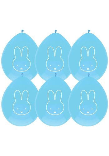 Ballonnen Nijntje Blauw - 6 st - 30cm