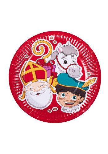 Sinterklaas Bordjes - 18cm - 6 st