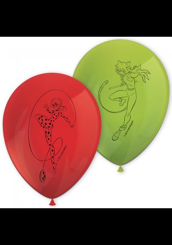 Ballonnen Miraculous Ladybug - 8 st
