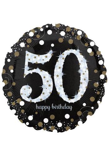 Folieballon Jumbo Sparkling Birthday 50 - 71cm