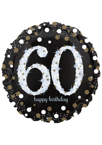Folieballon Jumbo Sparkling Birthday 60 - 71cm