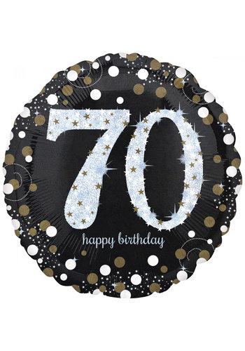 Folieballon Jumbo Sparkling Birthday 70 - 71cm