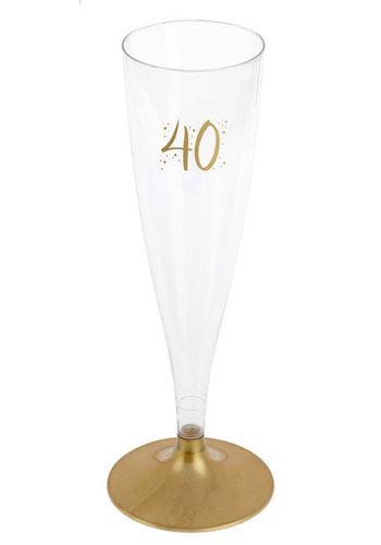 Champagne Flute - 40 Jaar - 140ml - 6st