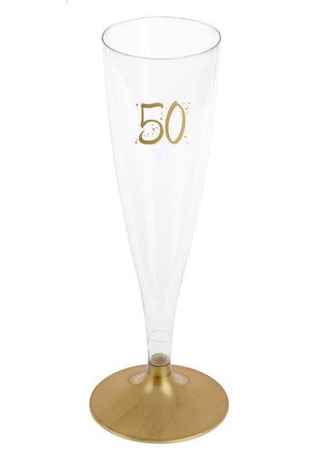 Champagne Flute - 50 Jaar - 140ml - 6st