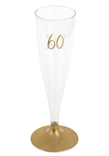 Champagne Flute - 60 Jaar - 140ml - 6st