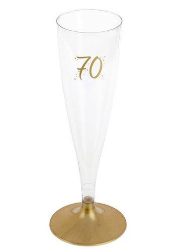 Champagne Flute - 70 Jaar - 140ml - 6st