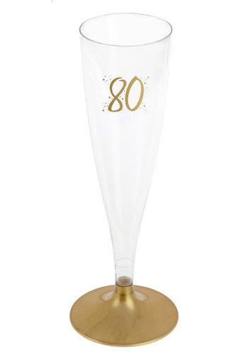 Champagne Flute - 80 Jaar - 140ml - 6st