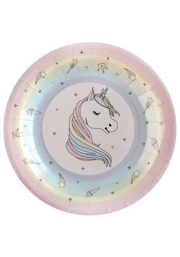 Unicorn Bordjes - 10 st - 22,5cm