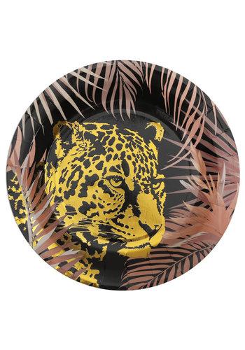 Leopard jungle Bordjes - 22,5cm - 10st