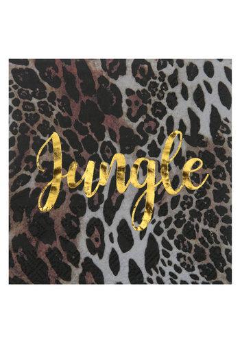 Leopard jungle Servetten - 25x25cm - 20st