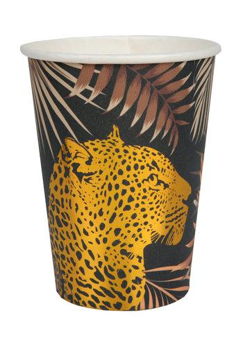 Leopard jungle Bekertjes - 10st - 270ml