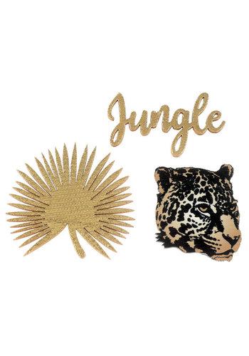 Leopard jungle Confetti - 4,5x6,5cm - 3 st