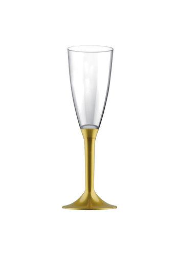 Champagne Glas Deluxe met gouden voet - 6st - 120ml
