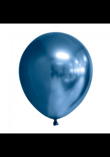 Ballonnen Chrome Blauw - 30cm - 10 stuks