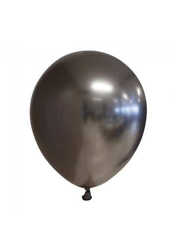 Ballonnen Chrome Space Grey - 30cm - 10 stuks
