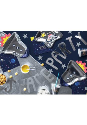 Banner Space - Space Party - zilver - 13x96cm