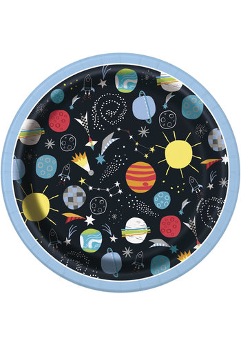 Out of Space Bordjes - 18cm - 8 st