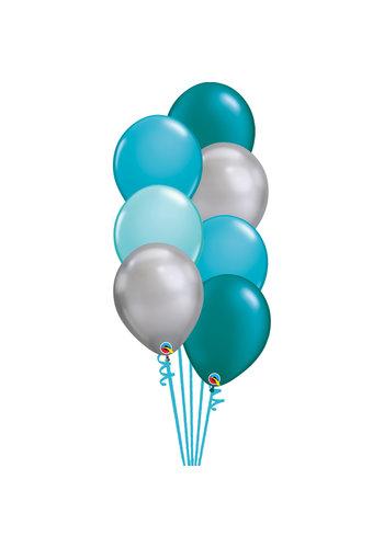 Staander Classy Green - 7 Heliumballonnen