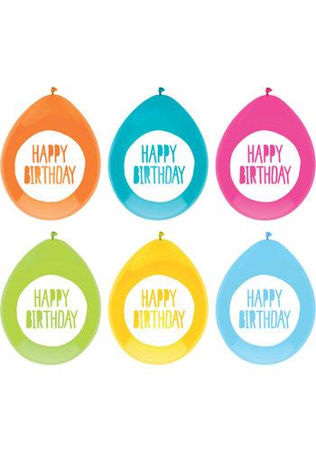 Ballonnen Festive Colors - 30cm - 6st