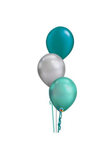 Tafeldecoratie Classy Green - 3 Heliumballonnen