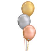 Tafeldecoratie Chrome Chique - 3 Heliumballonnen