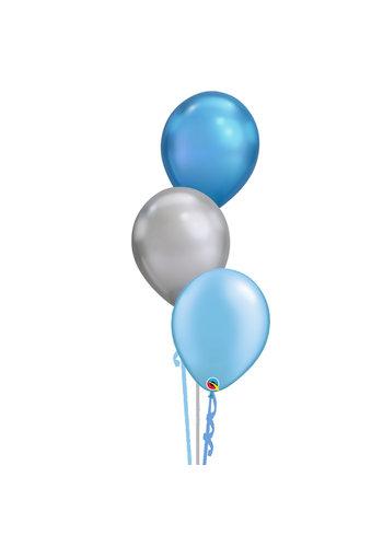 Tafeldecoratie Classy Blue - 3 Heliumballonnen