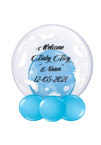 Bedrukte Ballon - Welcome Baby Boy