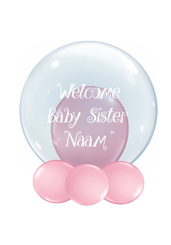 Bedrukte Ballon - Welcome Baby Sister