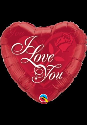 Folieballon I Love You Roses - 45 cm